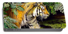 Tiger In The Sunderban Delta Portable Battery Charger