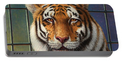 Tiger In Trouble Portable Battery Charger