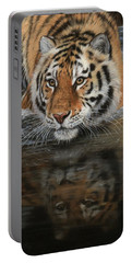 Tiger In Water Portable Battery Charger