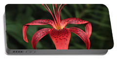 Tiger Lily Portable Battery Charger by Sergey Lukashin