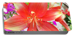 Portable Battery Charger featuring the photograph Tiger Lily by Sharon Duguay