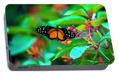 Portable Battery Charger featuring the photograph Tiger Longwing Butterfly by David Morefield