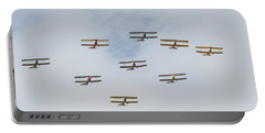 Portable Battery Charger featuring the photograph Tiger Moth Formation by Gary Eason