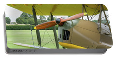 Portable Battery Charger featuring the photograph Tiger Moth Propeller by Gary Eason