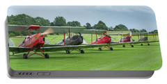 Portable Battery Charger featuring the photograph Tiger Moths Formation Shutdown by Gary Eason