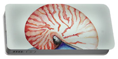 Tiger Nautilus Seashell Portable Battery Charger