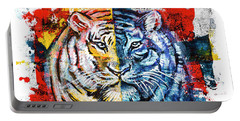 Tiger, Original Acrylic Painting Portable Battery Charger