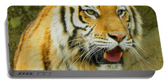 Portable Battery Charger featuring the photograph Tiger Stare by Sandi OReilly
