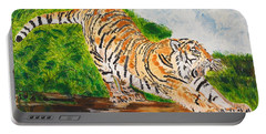 Tiger Stretching Portable Battery Charger