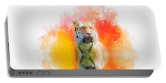 Tiger Sunset Portable Battery Charger