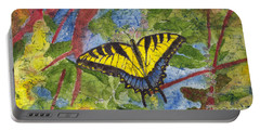 Tiger Swallowtail Watercolor Batik On Rice Paper Portable Battery Charger