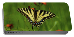 Tiger Swallowtail Butterfly Portable Battery Charger by Nancy Landry