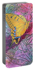 Portable Battery Charger featuring the painting Tiger Swallowtail by Nancy Jolley