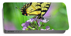 Portable Battery Charger featuring the photograph Tiger Swallowtail by Rodney Campbell