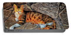 Portable Battery Charger featuring the photograph Tiger Tiger Burning Bright by Leigh Kemp