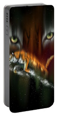 Tiger, Tiger Burning Bright Portable Battery Charger