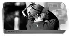 Tiger Woods Blk Wht  Portable Battery Charger