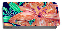 Tigerlilies Portable Battery Charger