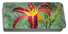 Tigerlily After A Summer Rain Portable Battery Charger