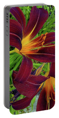 Tigerlily Close Up Portable Battery Charger