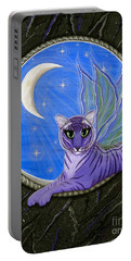 Tigerpixie Purple Tiger Fairy Portable Battery Charger