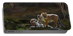 Tigers In The Night Portable Battery Charger