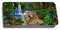 Tigers Of The Forest Portable Battery Charger