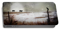 'til The Cows Come Home Portable Battery Charger by Theresa Tahara
