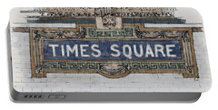 Tile Mosaic Sign, Times Square Subway New York, Handmade Sketch Portable Battery Charger