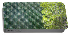 Tile Wall Of The Ringling Museum Asian Art Center Portable Battery Charger