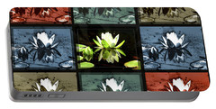 Tiled Water Lillies Portable Battery Charger