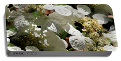 Tiled White Lace Cap Hydrangeas Portable Battery Charger by Smilin Eyes  Treasures