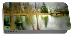 Tilley's Pond Portable Battery Charger by Diana Angstadt