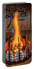 Tillicum Village Salmon Cook Portable Battery Charger by Rob Green