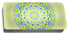 Tilted Order Circle Bright Portable Battery Charger by Lori Kingston
