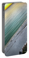 Tilted Rule Of Thirds Beach Sunset Portable Battery Charger