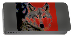 Timber Wolf Portable Battery Charger by Charles Shoup