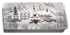 Timberline Lodge Portable Battery Charger by Jennifer Lake