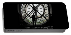 Time At The Musee D'orsay Portable Battery Charger