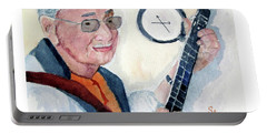 Portable Battery Charger featuring the painting Time Flies by Sandy McIntire