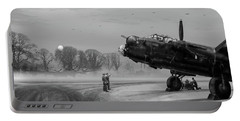 Portable Battery Charger featuring the photograph Time To Go - Lancasters On Dispersal Bw Version by Gary Eason