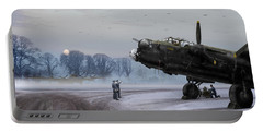 Portable Battery Charger featuring the photograph Time To Go - Lancasters On Dispersal by Gary Eason