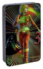 Portable Battery Charger featuring the digital art Time Zone by Shadowlea Is