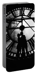 Timeless Love - Black And White Portable Battery Charger