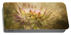 Timeless Thistle Portable Battery Charger by Maria Urso