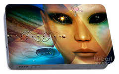 Portable Battery Charger featuring the digital art Timeless Traveller by Shadowlea Is