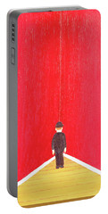 Portable Battery Charger featuring the painting Timeout by Thomas Blood