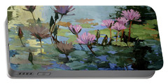 Times Between - Water Lilies Portable Battery Charger