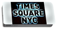 Times Square 4 Portable Battery Charger by NDM Digital Art