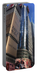 Times Square In Gold Portable Battery Charger